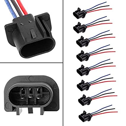 Amazon.com: PartsSquare QTY(8) Wire Harness Halogen Xenon H13 ... on wire cap, wire lamp, wire ball, wire leads, wire antenna, wire sleeve, wire holder, wire connector, wire nut, wire clothing,