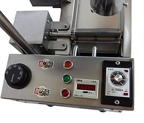 Yoli® comercial automático máquina de Donut, Donut de Acero Inoxidable Eléctrica/freidora, más amplio del depósito de aceite, 3 tamaños moldes: Amazon.es: ...