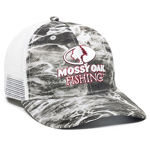 Arch Raised Panel - Mossy Oak MOFS15A -Mantra Outdoor Cap Mantra Mesh Back Fishing Cap, White