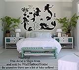 Wall Decals Mermaid Decal Vinyl Sticker Bathroom Window Nursery Children Bedroom Hall Home Decor Dorm Interior Art Murals MN791