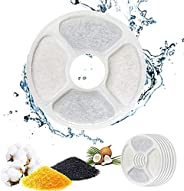 QIUQIU Fountain Filter, Fountain Filter Triple Action for Cat Fountain Replacement with High-Intensity Cotton,