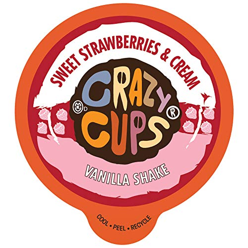 Crazy Cups Sweet Strawberries and Cream Vanilla Shake , 22 count