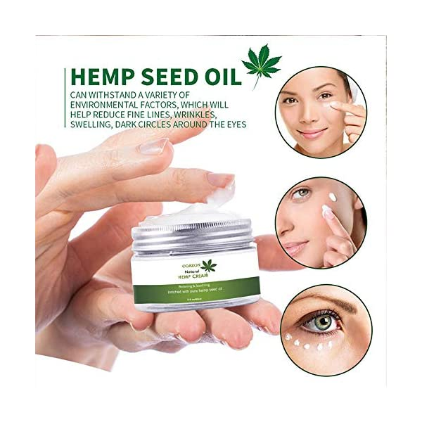 Womdee Hemp Face Cream, Anti-Aging & Wrinkles Hemp Face Cream, Inriched with Vitamin E/Firm and Moisturizer Skin with Hemp Oil for Deep Nourishment, 60ml