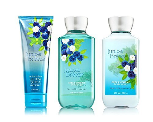 Bath & Body Works Juniper Breeze Body Cream, Lotion, Shower Gel Set