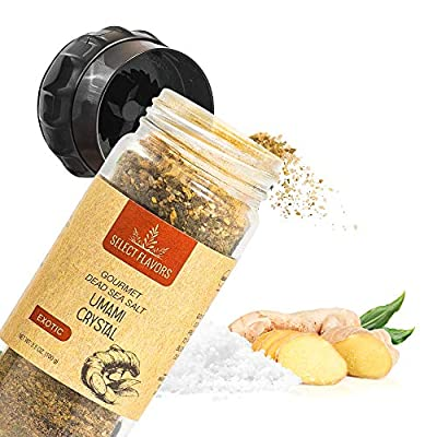 Select Flavors Exotic Seasoning Umami Crystal Fifth Taste Spice 3.5 oz Grinder Top