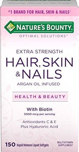 Nature's Bounty Optimal Solutions Hair Skin & Nails, 150 Softgels (Pack of 16)