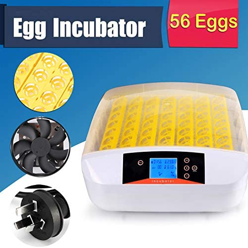 Aceshin Automatic 56 Digital Egg Incubator Turning Temperature Control, Poultry Hatcher for Chickens Ducks Goose Birds US Stock