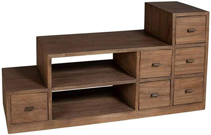 Mueble TV Escalera Laura en Midi Estilo Colonial: Amazon.es: Hogar