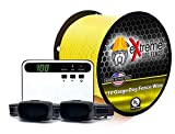 Extreme Basics Pro Plus - Electric Dog Fence for 1 Dog with 1000 Feet of Heavy Duty Professional Grade Dog Fence Wire for Improved Performance and Longevity
