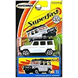 Matchbox 2004 Superfast 35th Anniversary Mercedes Benz 280GE G Wagon White  #73