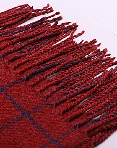 A Plaid Unica Cashmere Oversize taglia Luo c Sciarpa Spessore Con In Invernale B Scialle Da Frange Donna Righe x7avq