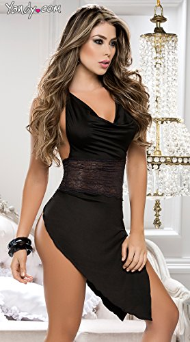 QueenMoon-Women-Nightskirt-Lace-Babydoll-Slip-Sleepwear-Mini-Chemise-Sexy-Lingerie-Backless-Teddy