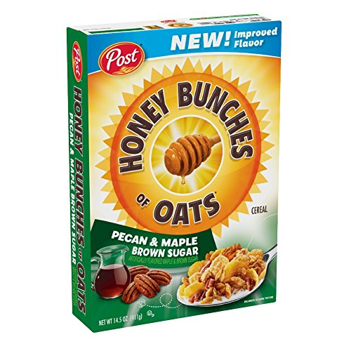 Post Honey Bunches of Oats Pecan & Maple Brown Sugar Breakfast Cereal, 14.5 Ounce, 12 Count