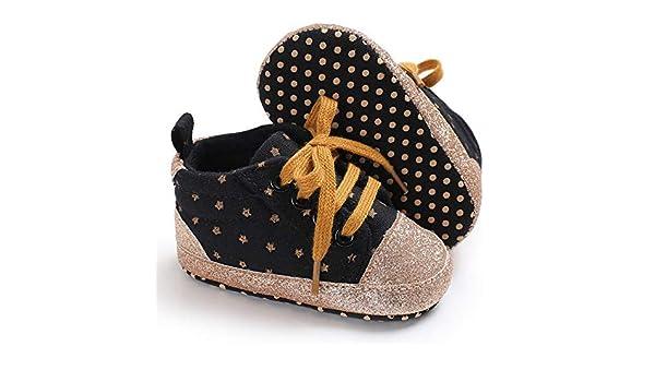 0703c4e33d31a Amazon.com : LooBooShop Newborn Baby Soft Sole Crib Shoes Infant Boy ...