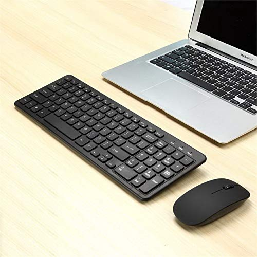 Tree-on-Life MLD-568 Ultra-Slim Black Mini Wireless Keyboard and Mouse Combo Kit for PC Desktop Loptop Classic Office…