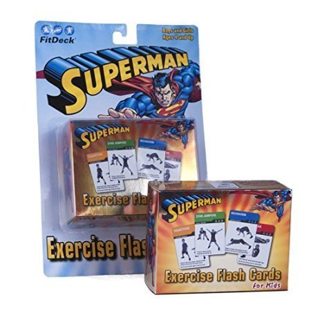 Superman FitDeck Exercise Flash Cards for Kids