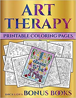 Printable Coloring Pages (Art Therapy): This book has 40 art ...