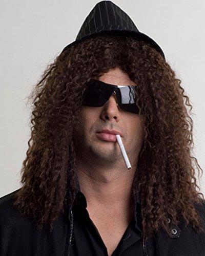 Guns N Roses Slash Costume (Rockstar Slash Curly Guns N Roses Rock Band by Enigma Costume Wigs - Black)