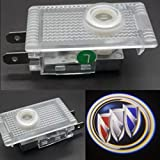 CNAutoLicht Pair For Buick Regal 2009-2016 Cree LED Door Step Courtesy Light Welcome Light Laser Shadow Logo Projector Lamp