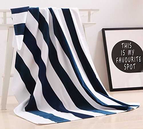 "100% Cotton Oversized Large Beach Towel,Pool Towel (35""x70' )—Soft, Quick Dry, Lightweight, Absorbent, and Plush"