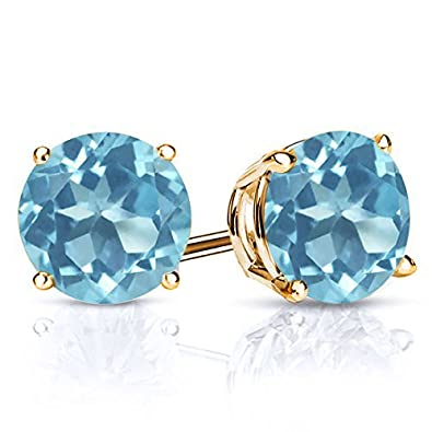 6bd9b090fc488 Via Mazzini Light Aquamarine Blue Crystal Stud Earrings (8mm)