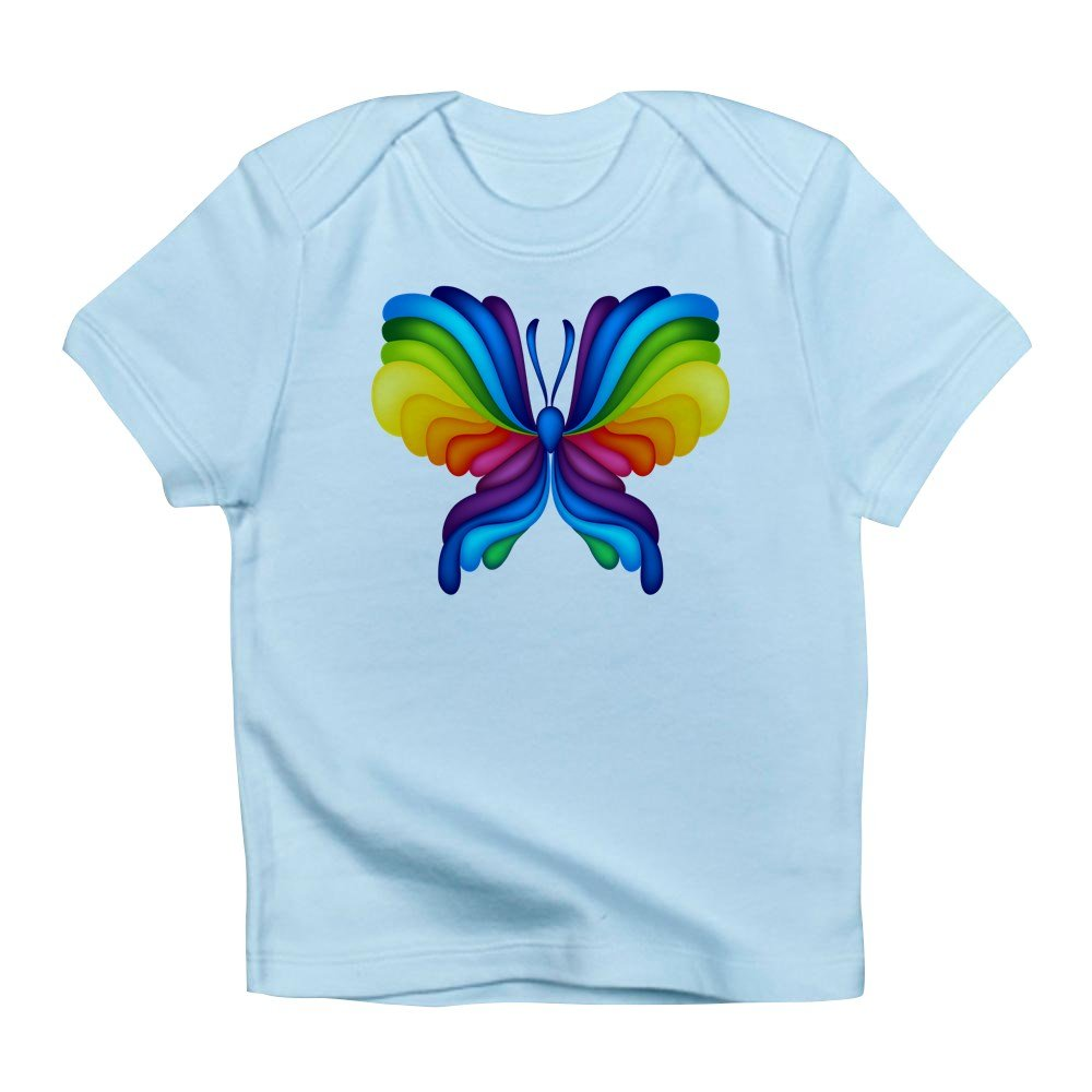 Sky Blue 6 To 12 Months Truly Teague Infant T-Shirt Rainbow Butterfly