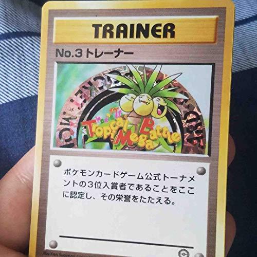 Custom Made Pokemon Trophy Card Exeggutor No. 3 Trainer 3rd Place (Tropical Mega Battle Tournament)