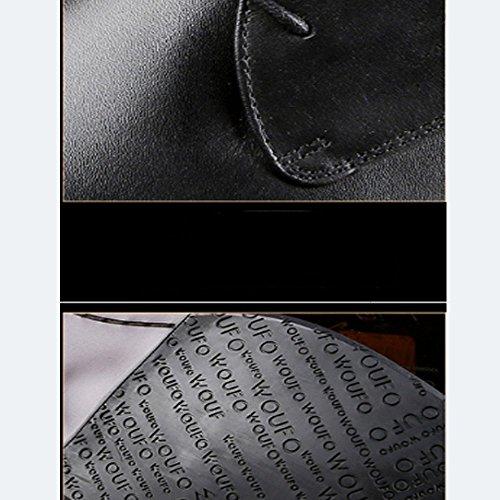 Moda Pelle Moda Punta Britanniche in Scarpe retr Uomo da NIUMJ Affari Indossabile A da Scarpe Traspirante Singole Scarpe Scarpe Uomo Scarpe qSx68TIw