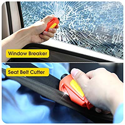 VicTsing Window Breaker Seatbelt Cutter, Portable Glass Breaker Keychain for Land & Underwater Emergency, Safety Car Escape Tool, 2 Pack: Automotive