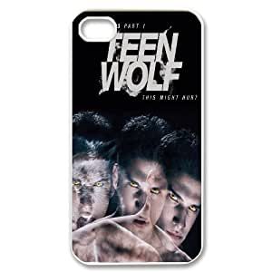 Diy Teen Wolf Cell Phone Case, DIY Durable Cover Case for iPhone 4/4G/4S Teen Wolf