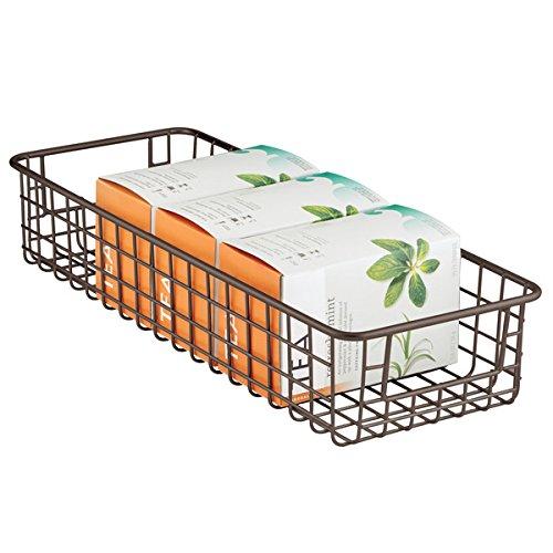 mDesign Storage Basket Kitchen Cabinet product image