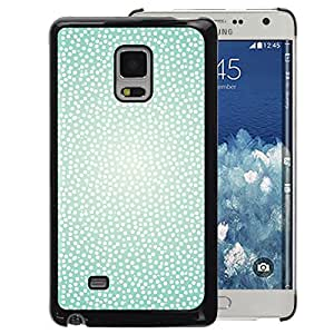 Planetar® ( Teal Happy Light Snow Cute ) Samsung Galaxy Mega 5.8 Hard Printing Protective Cover Protector Sleeve Shell Cover Case
