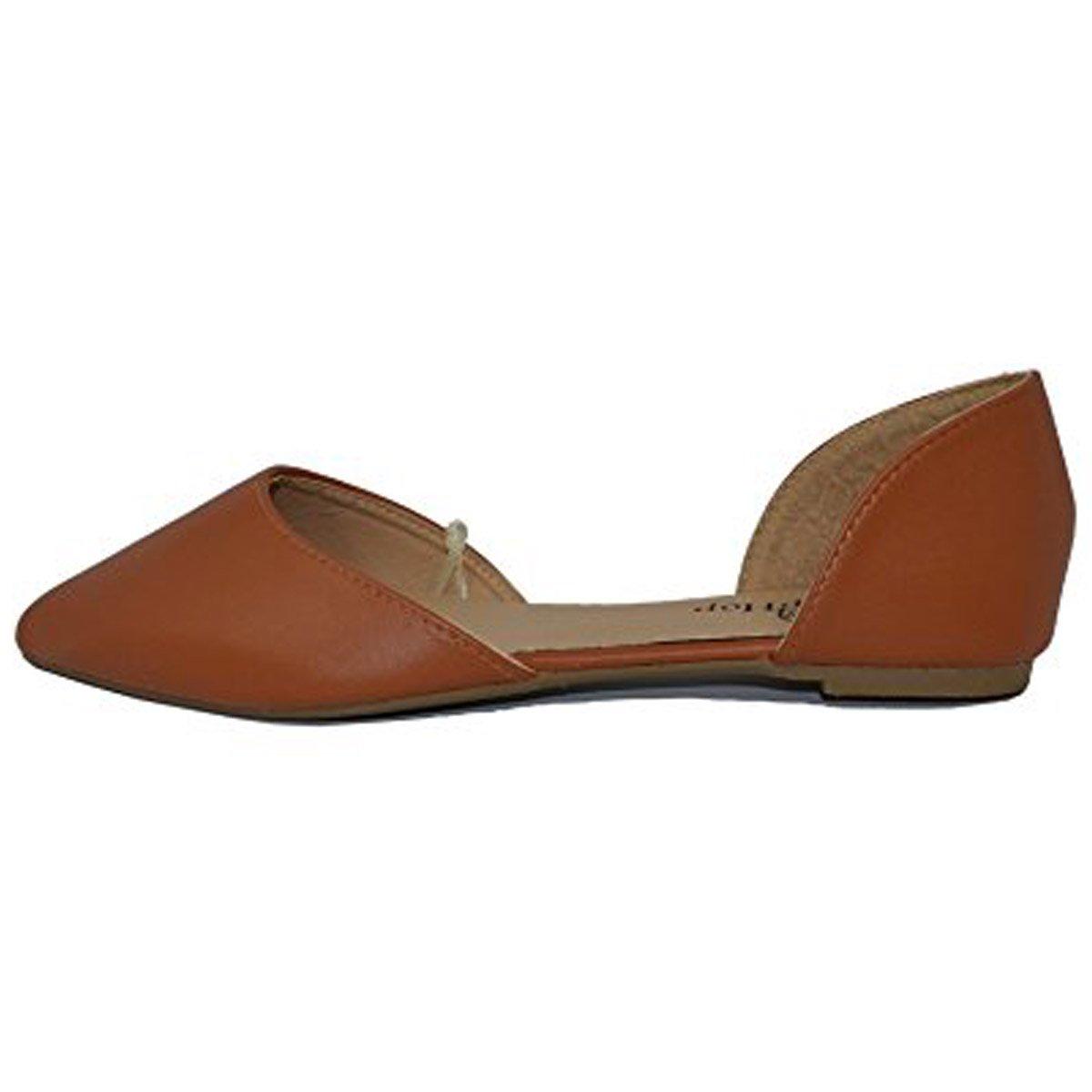 Kyle Walsh Pa Women Pointed Toe Slip On Ballet Flats Heel Shoes Khaki