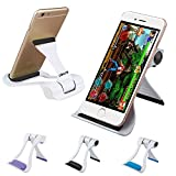 Tablet and Cell Phone Stand Holder,Multi-Angle Universal Cellphone Stand Holder,Adjustable Portable Foldable Stand Apply to Iphone ipad an Other Tables,Smartphones E-readers Samsung Galaxy (Black)