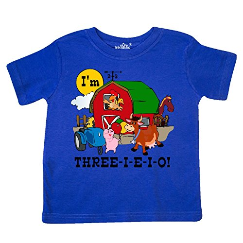 Eieio Farm - inktastic - Three-I-E-I-O Toddler T-Shirt 3T Royal Blue