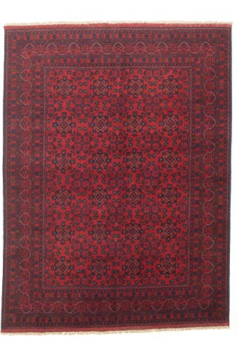 """eCarpet Gallery Area Rug for Living Room, Bedroom   Hand-Knotted   100% Wool   Finest Khal Mohammadi Bordered Red Rug 5'8"""" x 7'6""""   305720 from eCarpet Gallery"""