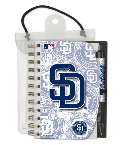 National Design San Diego Padres Deluxe Hardcover 4 x 6-Inches Notebook and Grip Pen Set (12283-GEE)