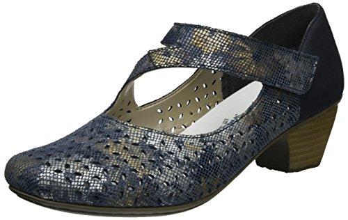 Rieker Escarpins 41746 Femme Pazifik Blau 90 Bleu metallic zzUrTPwq