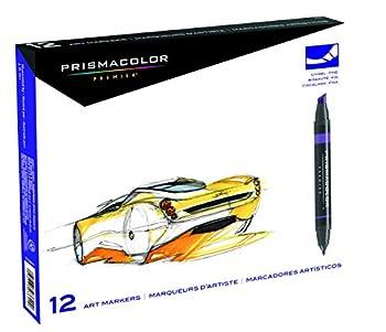 Prismacolor Premier Double-ended Art Markers, Fine & Chisel Tip, 12 Pack 1