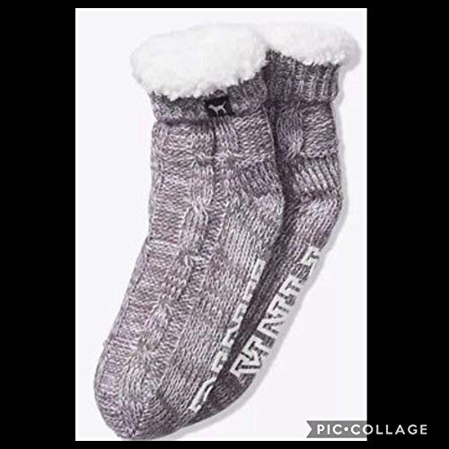 VICTORIA SECRET - SOLD OUT. PINK COZY BOOTIES. SHERPA GREY SLIPPERS SOCKS. SOLD OUT ()