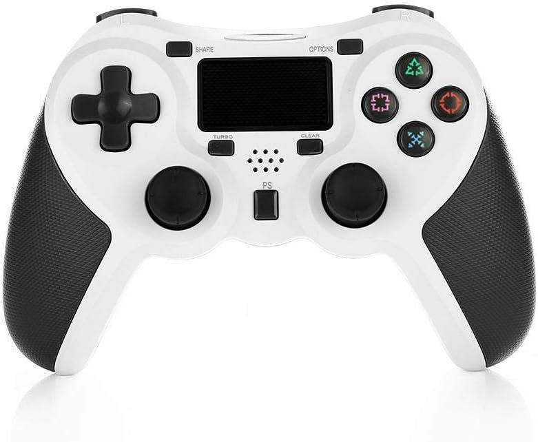 Mando Inalámbrico Gamepad Wireless Controlador Inalámbrico Compatible con Playstation 4 Dualshock 4 con Los Botones De Activación Playstation 4 y Windows (blanco)