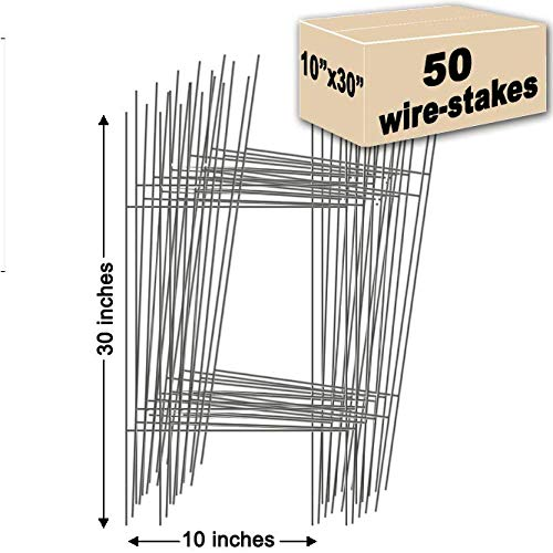 50 Yard Sign Stakes Double H-Frame 10 in. x 30 in. USA Made