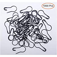 1000Pcs Metal Black Safety Pins/Bulb Pin/Gourd Pin/Calabash Pin for Clothing Crafting and DIY Home Accessories, Suitable for The Tailor