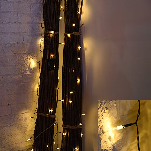 Battery Operated String Lights Loende Christmas Lights 50 Led Clear Mini Lights Set For