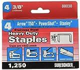 Surebonder 880385A Stainless Steel Heavy Duty 3/8'' Arrow T50 Type Staple