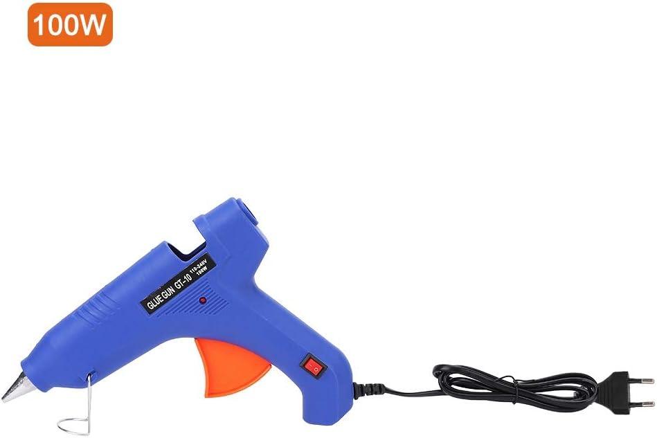 HEEPDD Pistola de Pegamento Caliente Pistola de Pegamento de fusi/ón de Alta Temperatura 60W//80W//100W con Interruptor para Manualidades art/ísticas Uso de Regalos Enchufe Negro de la UE 80W