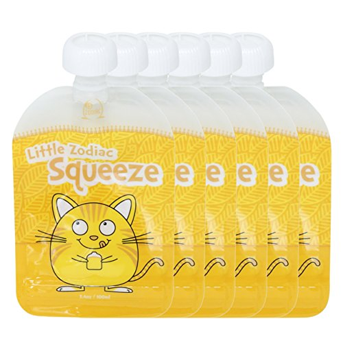 Little Zodiac Squeeze Reusable Baby Food Pouch - 6 Pack (...