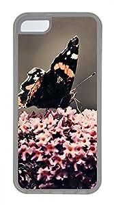iPhone 5c case, Cute Black Butterfly iPhone 5c Cover, iPhone 5c Cases, Soft Clear iPhone 5c Covers