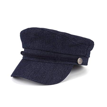 GSCshoe Sombrero Elegante Vintage Gorra Azul Marino con Parte ...
