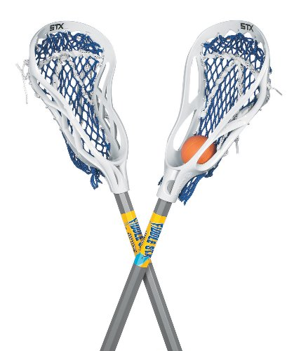 STX FiddleSTX Two Pack Mini Super Power with Plastic Handle and One Ball, 30-Inch (Best Lacrosse Stick For Beginners)